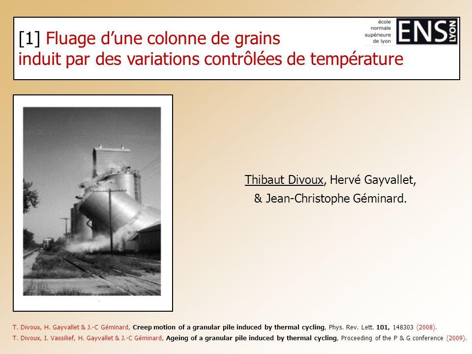 [1] Fluage d'une colonne de grains